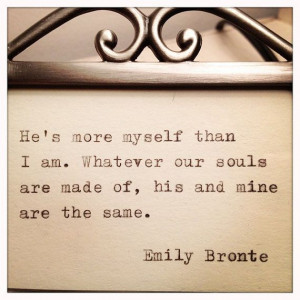 ... Emily Bronte Framed Love Quote Made On Typewriter by farmnflea, $13.00
