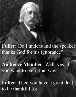 Chief Justice Melville W. Fuller Vs. An Attendee At A Church ...