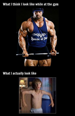 At the gym meme