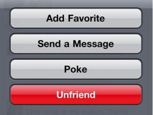 Unfriend your ex-girl/boyfriend on Facebook