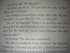 Heroes of olympus quote, king midas