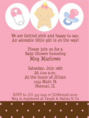 Shop our Store > Baby Girl Shower Invitations