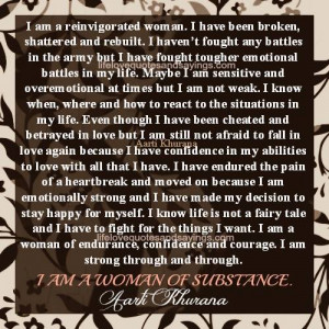 Army Women Quotes I am a woman of substance.