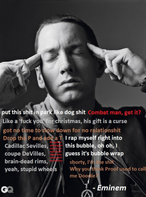 Famous quotes from mr Eminem