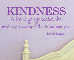 Language Which Deaf can Hear and Blind See Inspirational Vinyl Quote ...