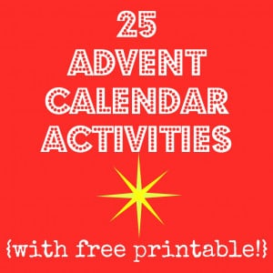 ... photo advent calendar, glue the activities to the back of the photos