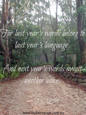... last year's language. And next year's await another voice.