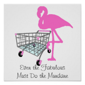 Funny Fabulous Flamingo Quote Print
