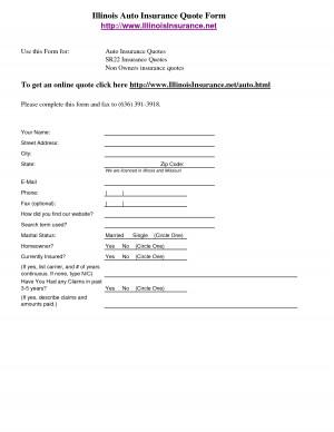 insurance quotes auto 2014 – Illinois Auto Insurance Quote Form http ...