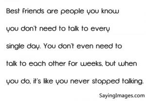 Best friend quotation, famous friendship sayings