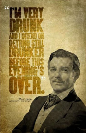 Gone With The Wind RHETT BUTLER Quote Poster