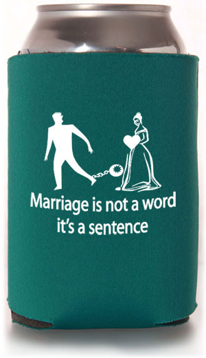 Funny Can Coolers ~ Funny wedding koozie quotes quotesgram