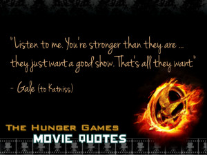 year ago tagged as thg hunger games hunger games quotes gale ...