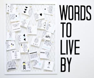 Name: 'Paper Crafts : Words to Live By Quotes