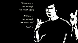 Bruce Lee quote wallpaper