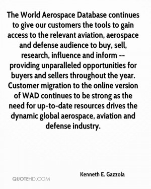 The World Aerospace Database continues to give our customers the tools ...