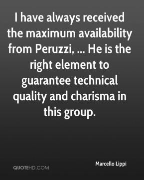 Marcello Lippi - I have always received the maximum availability from ...