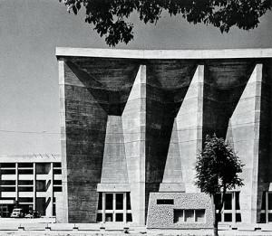 kenzo tange imabari city hall municipal auditorium