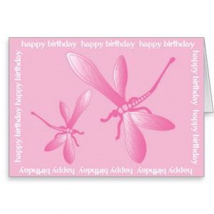 Dragonflies Happy Birthday