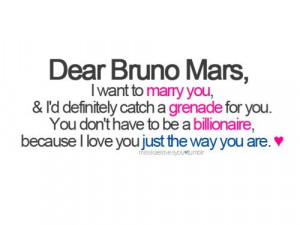 bruno mars, grenade, just the way you are, marry you