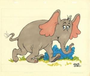 horton the elephant item # ljg223 chuck jones limited edition giclee