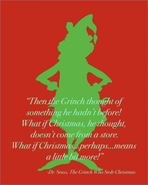 Dr. Seuss Grinch Stole Christmas Quote Silhouette