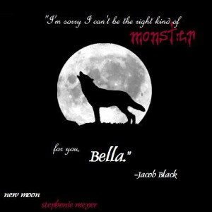 quote jacob black new moon wolf silhouette Image