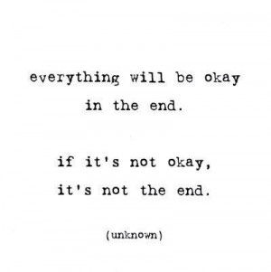 Its not the end.