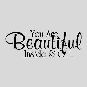 you are beautiful inspirational quotes words decals lettering