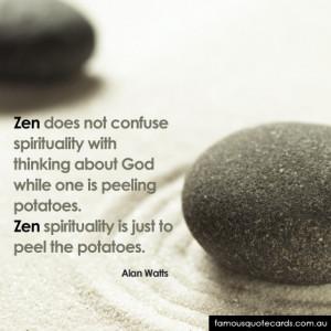 Quotecard Zen Potato Quote Card