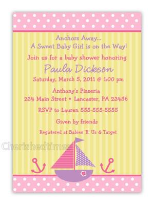 Cute Sayings Baby Shower Invitations Girls