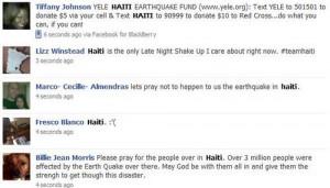 Facebook Funny Status Donate Haiti