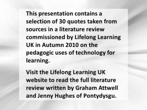 Use of technology in teaching and learning in 30 Quotes from different ...