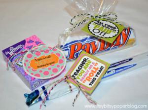 Candy for Teacher Appreciation . . .