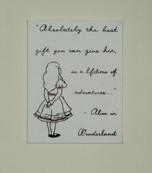 Baby Nursery Art Disney Character Quote Alice in Wonderland Hand ...