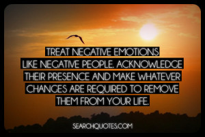 Treat negative emotions like negative people. Acknowledge their ...