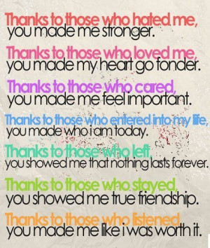 Be Thankful for it all!
