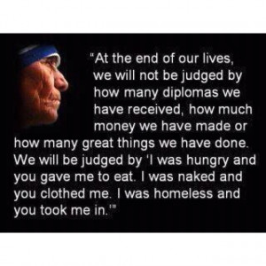 Helping Others - Mother Teresa quote