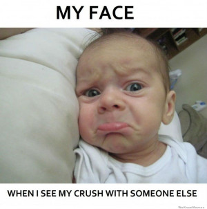 Why face when I see my crush with someone else