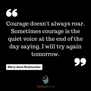 ... quiet voice at the end of the day saying, I will try again tomorrow