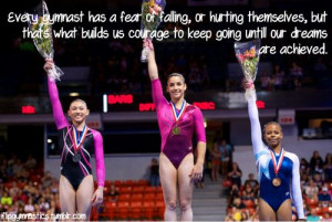 Every gymnast has a fear of falling or hurting themselves, but that's ...