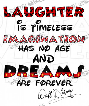 Walt Disney quote Laughter is timeless INSTANT DOWNLOAD digital clip ...