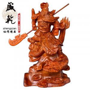 Sheng dry wood carvings handmade African pear carved mahogany Dragon