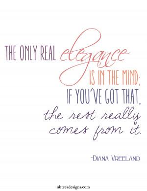 Elegant Diana Vreeland Quotes