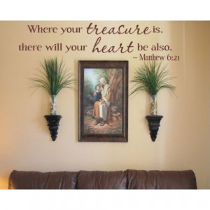 Religious Inspirational Vinyl Wall Decal Sticker Mural Quotes Words