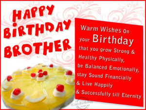 Happy Birthday Brother. .Happy Birthday Big Brother Quotes