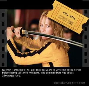 Kill Bill Movie Facts