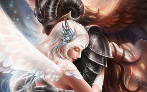 Demon angel love Wallpapers Pictures Photos Images