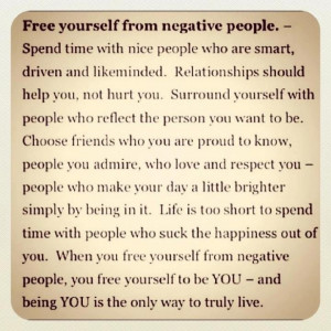 Let go of negative things