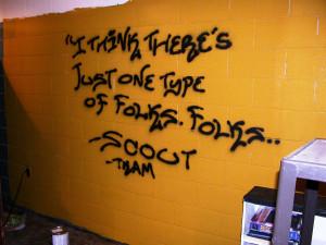 Dramatic Graffiti quote wall by TrinityNX